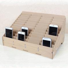 Mdf Mobile Phone Store Rack Laser Cut 3d Puzzle Free CDR Vectors Art