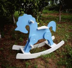 Rocking Horse Laser Cut Cnc Plans 3d Puzzle Free CDR Vectors Art