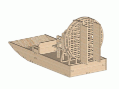 Air Boat 12 Mm Laser Cut 3d Puzzle Free DXF File
