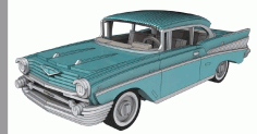 Chevrolet Bel Air 1957 3 Mm Laser Cut 3d Puzzle Free DXF File