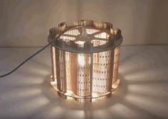 Living Hinge Lampshade 01 Laser Cut 3d Puzzle Free DXF File