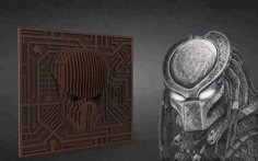 Predator Laser Cut 3d Puzzle Free DXF File