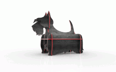 Scottish Terrier Mini Shelf Laser Cut 3d Puzzle Free DXF File