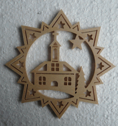 Stern Kirche Laser Cut 3d Puzzle Free DXF File