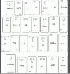 telefonkılıfı çizimleri Laser Cut 3d Puzzle Free DXF File