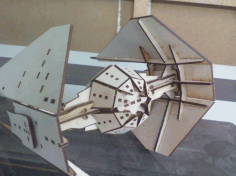 Tie Interceptor Laser Cut 3d Puzzle Free DXF File