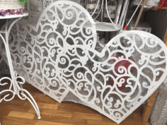 Laser Cut Heart Decor 3d Puzzle Free CDR Vectors Art