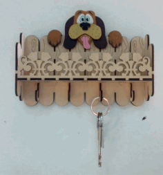 Laser Cut Key Hanger Dog 3mm 3d Puzzle Free CDR Vectors Art
