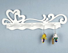 Laser Cut Key Holder Wall Hanging 3d Puzzle Free CDR Vectors Art