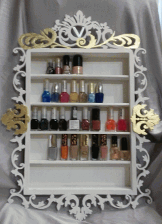 Laser Cut Nail Polish Rack Nail Polish Shelf 3d Puzzle Free CDR Vectors Art
