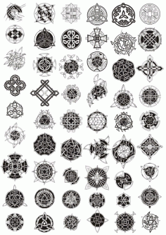 Celtic Ornament Pack Free CDR Vectors Art