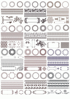 Decor Elements Set Ornament Free CDR Vectors Art