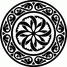 Design Round Stencil Motif Ornament Free CDR Vectors Art