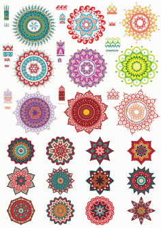 Fancy Ornament Collection Free CDR Vectors Art