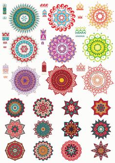 Fancy Ornament Collection Free CDR Vectors Art
