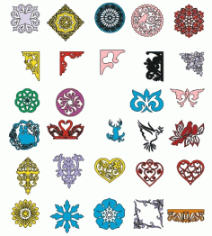 Floral Ornaments Collection Set Free CDR Vectors Art