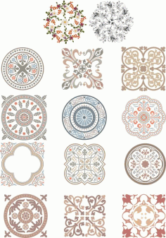 Floral Ornaments Fancy Free CDR Vectors Art