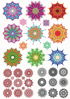 Indian Ornament Collection Set Free CDR Vectors Art