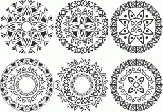Ornament Circle Set Free CDR Vectors Art