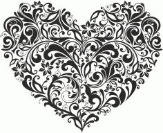 Ornament Heart Style Free CDR Vectors Art