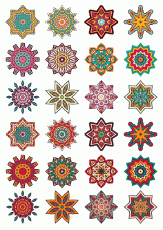 Ornament Collection Set Decor Free CDR Vectors Art