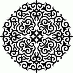 Ornament Stencil Round Free CDR Vectors Art