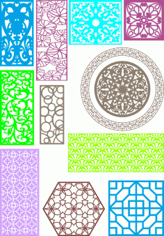 Partitions Room Divider Collection Ornament Free CDR Vectors Art
