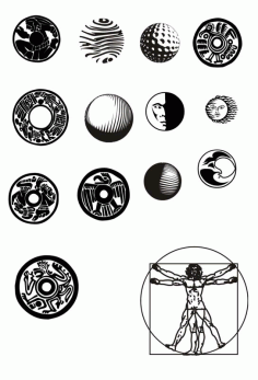 Round Pattern Circular Ornament Element Free CDR Vectors Art