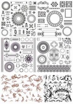 Set Of Decor Elements Ornament Free CDR Vectors Art