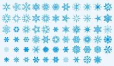 Snowflakes Art Collection Ornament Free CDR Vectors Art