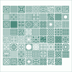 Square Ornaments Collection Free CDR Vectors Art