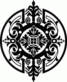 Stencil Medallion Ornament Free CDR Vectors Art