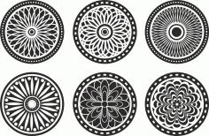 Circle Lasercut Element Ornament Free CDR Vectors Art