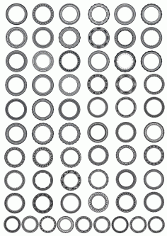 Circle Ornament Free CDR Vectors Art