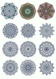 Doodle Circular Pattern Design Mandala Ornament Free CDR Vectors Art