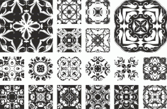 Floral Ornaments Set Free CDR Vectors Art