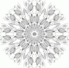 Floral Round Ornament Free CDR Vectors Art