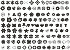 Flower Set Ornament Free CDR Vectors Art