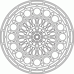 Mandala Des Round Ornament Free CDR Vectors Art