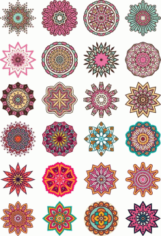Mandala Floral Ornament Free CDR Vectors Art