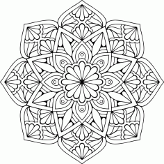 Mandala Floral Star Ornament Free CDR Vectors Art