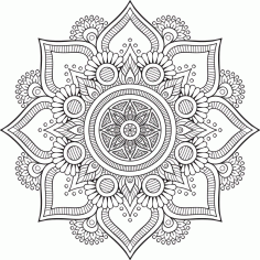 Mandala Floral Tattoo Design Ornament Free CDR Vectors Art