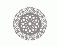 Indian Mandala Ornament Free DXF File
