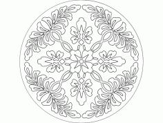 Mandala 1 Ornament Free DXF File