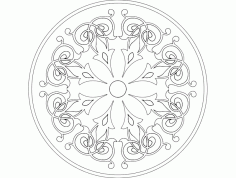 Mandala 4 Ornament Free DXF File