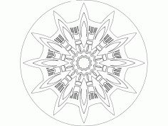 Mandala 7 Ornament Free DXF File