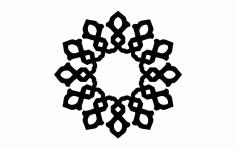 Mandala Design Round Ornament Free DXF File