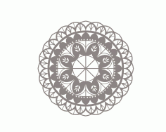 Mandala Floral Flower Ornament Free DXF File