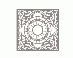 Mandala Square Ornament Free DXF File