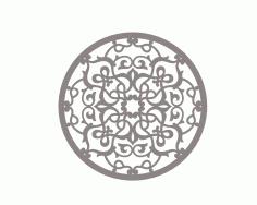 Stylized Mandala Ornament Art Free DXF File